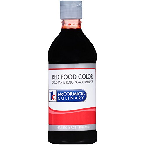 (McCormick Culinary Red Food Color, 16 fl oz, Premium Quality, Consistent Color, Perfect for Valentine's Cupcakes, Easter Eggs, Red Velvet Desserts and More)