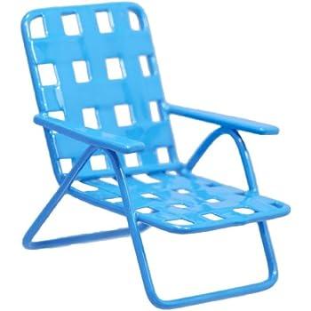 Exceptional Fiddlehead Fairy Miniature Lawn Chair   Blue