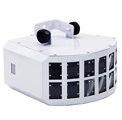 (Unbekannt 13W DJ Stage Lights 9 Colors LED Wide Beam Effect Lamp, 7 Channel DMX 512 Voice-Activated Automatic Control LED Projector,White )