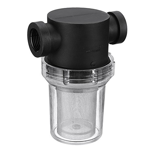 Filtro de tuberia universal para el hogar, filtro de malla en linea, filtro de bomba de agua para el jardin, riego, flujo alto 25 mm As Picture Show