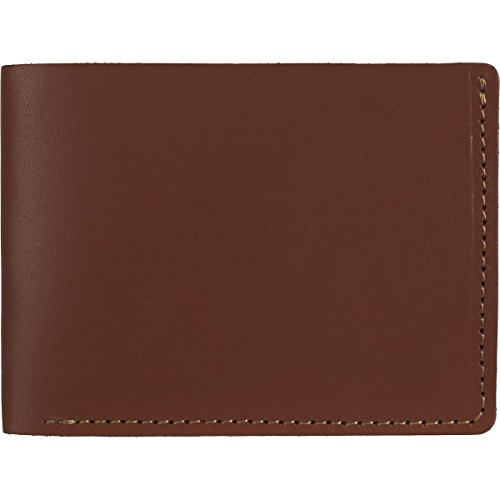 Wood and Faulk Classic Billfold Wallet - Men's Medium Brown, One Size - Parts English Bridle