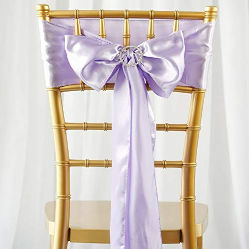 (Mikash Satin Chair Sashes Bows Ties Wedding Reception Decorations Wholesale | Model WDDNGDCRTN - 3633 | 50 pcs)