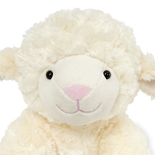 Animal Alley - 10 inch Stuffed Baby Lamb - Made of Beautiful Cream and White Two Tone Fabric,