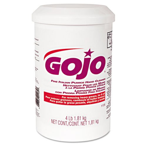 GOJO Fine Italian Pumice Hand Cleaner, Unscented, 4lb Tub - Includes six per case. by Gojo