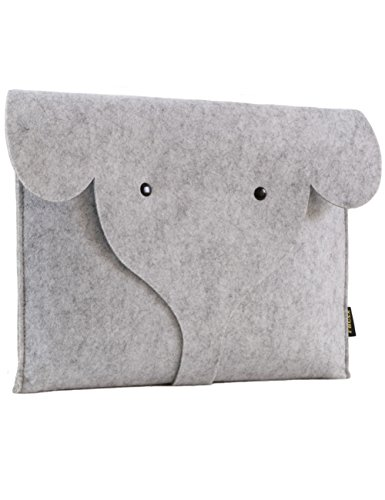 FHQSX 13-13.3 Inch Apple Dell Case, Handmade Cute Elephant L
