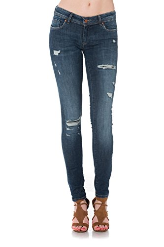 Bleu Kaporal Up Basse Push Femme Slim Jeans Taille qwxP08waR