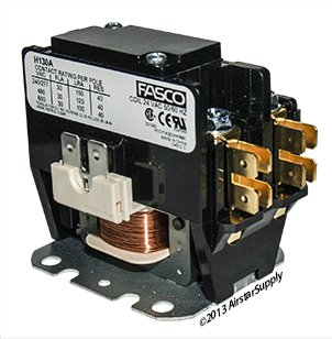 Replacement for Trane Single Pole / 1 Pole 30 Amp 24 Volt Coil Condenser Contactor CTR2579 by Trane
