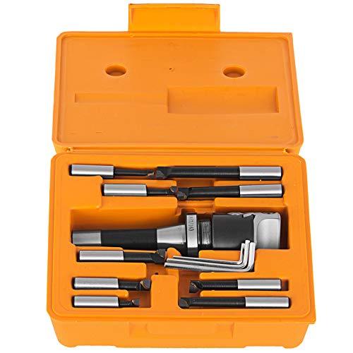Mophorn Boring Head 2'' R8 Shank Holder Boring Head Set with 1/2'' Indexable Boring Bars 13 PCS Carbide Boring Head Tool Set