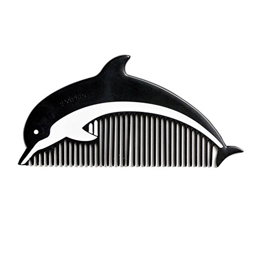 Hair Combs Alloy matte paint cute dolphin, portable Pocket Comb ,2.1