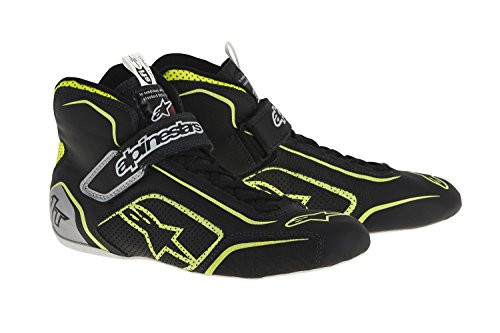 alpinestars-2710115-1519-12-tech-1-t-shoes-black-fluor-yellow-size-12-sfi-33-level-5-fia-full-grain-