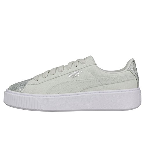 Blue Silver Basket Platform Flower Canvas Puma 6wtF4qP