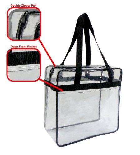 NFL Stadium Approved Clear Purse Bravo Enterprise Clear Cross-Body Messenger Shoulder Bag Tote Adjustable Strap