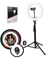 R2B Ringlamp - TikTok Lamp - Ring light - Ringlamp met Statief - Selfie ring Light - 186 cm - 30 lichtstanden