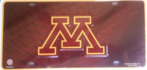 Minnesota Golden Gophers Metal (Minnesota Golden Gophers PV380101 Metal Aluminum License Plate Tag University of)