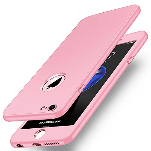 Price comparison product image DOUMI Thin Shockproof Hybrid 360 TPU Gel Cover Case For Apple iPhone 8/8Plus 7/7Plus (7/8 Plus - 5.5 inch, pink)