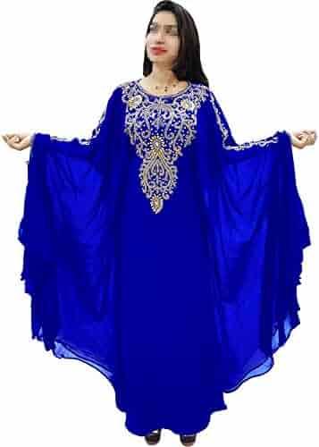 af25970f6e African Boutique Dubai Kaftan for Women Beads Work Maxi Dress Gown Formal  Chiffon African Wear