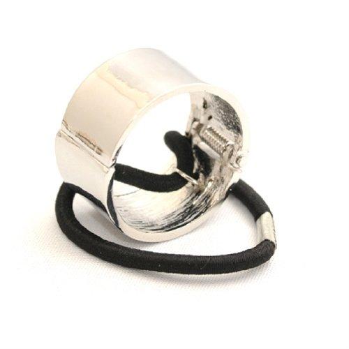 haar wickeln manschette silber farbe scharnier pferdeschwanz band ring von Boolavard ® TM