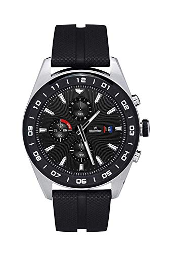 LG LM-W318 Real Movement Hybrid Smart Watch W7 Silver Black, International Version, No Wararnty