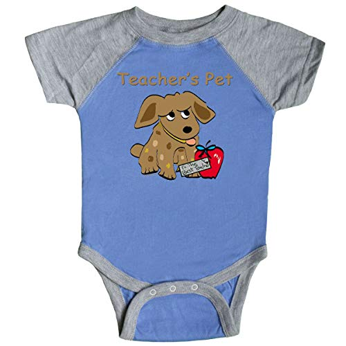 inktastic Teacher's Pet Infant Creeper Newborn Blue and Heather