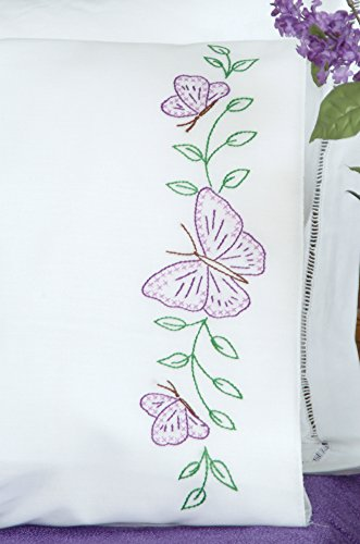 Embroidery Pillowcase Kits (Butterflies Pillowcases)