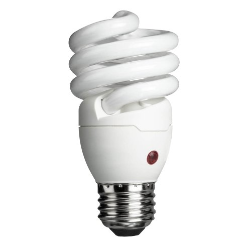 Compact Fluorescent Light Fixtures - Philips Energy Saver Dusk-to-Dawn Compact Fluorescent Twister A19 Light Bulb: 900-Lumen, 2700-Kelvin, 14-Watt (60-Watt Equivalent), Medium Base CFL, Soft White