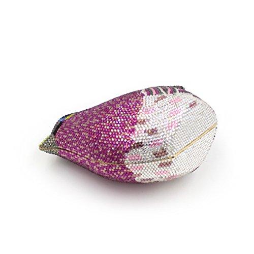 fête à de main de mariage main soirée métallique de sac des préférés sac monnaie femmes d'oiseaux sac Strass porte à d'embrayage luxe 0wUn8qdO