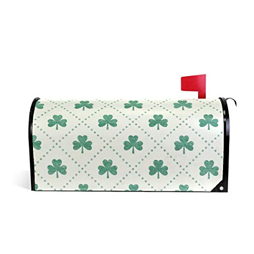 Magnetic Mailbox Cover Shamrock Mint Wrap- Large Size 25.5