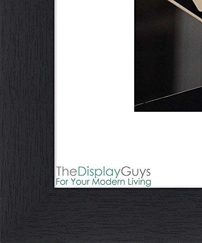 """The Display Guys ~ 4 sets of 11x14 inches Black Wooden Photo Frame, Tempered Glass, Luxury Made Affordable, with 1pc White Mat Board for 8""""x10"""" Picture"""