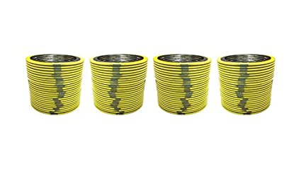 Yellow With Grey Stripe of NJ for 4 Pipe Supplied by Sur-Seal Inc Pack of 12 Pressure Class 2500# for 4 Pipe Sterling Seal 90004304GR2500X12 304 Stainless Steel Spiral Wound Gasket with Flexible Graphite Filler