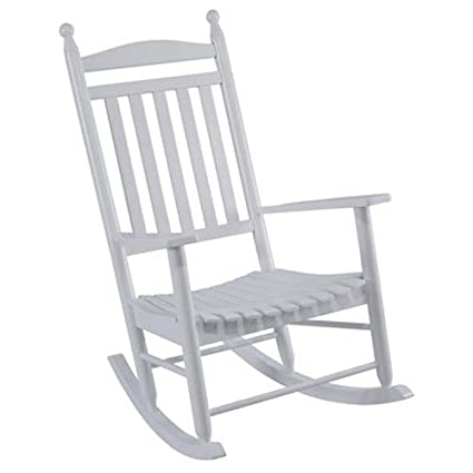 Jack Post KN 22W JE Knollwood Classic Wood Rocking Chair, Gloss White