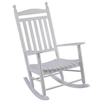 jack post kn22wje knollwood classic wood rocking chair gloss white