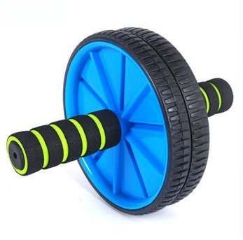 Blue color Brand New Dual Wheel Ab Roller With Mat for Gym Abdominal Exercise Fitness Equipment