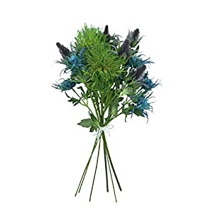 Lily Garden 6 Long Stems Artificial Eryngo Thistles Bunch of Flowers Plants for Home Decor Centerpieces 2