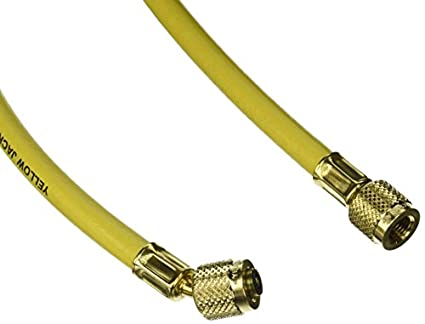 "Yellow Jacket 21096 Plus II Hose Standard 1/4"" Flare Fittings, 96"""