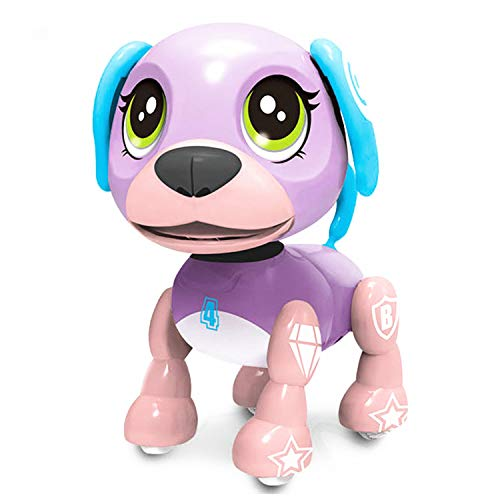 SoundOriginal Electronic Intelligent Pocket Pet Dog Interactive Puppy - Robot Dog Popular Toys Smart Pet Toy for Age 3 4 5 6 7 8 9 10 Year Old Boys Girls and Kids Gifts, Speech Recognition Dog(purple) ()