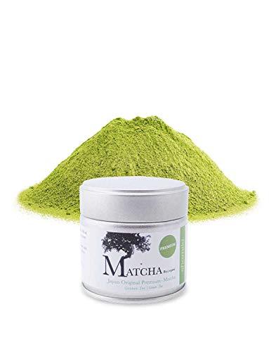 Premium Bio Matcha aus Japan, Tee Pulver in der 30 g Dose, süßlich-mild, Grüntee