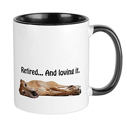 CafePress Greyhound Retired Mug Unique Coffee Mug, Coffee Cup