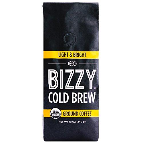 Bizzy Organic Cold Brew Coffee - Light & Bright Blend - Coarse Ground Coffee - 12 oz