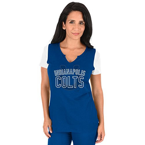 Profile Big & Tall NFL Indianapolis Colts Adult Women NFL Plus S/Notch V - T-shirt Indianapolis Colts