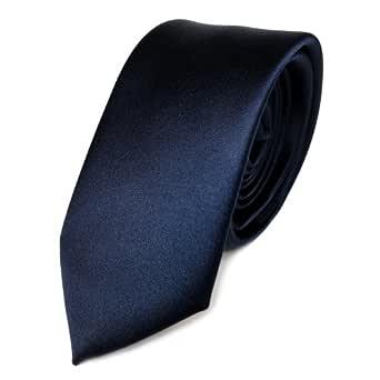 TigerTie - corbata estrecha - azul marina azul oscuro monocromo ...