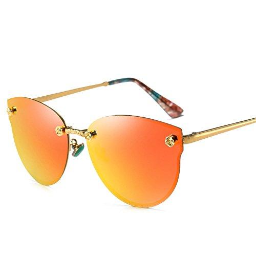 6 de Rojo polarizadas gafas sol sol Shop de Enmarcado gafas sol metal moda de Gafas sol de polarizadas de Oro Gafas de Naranja dZ0fBq