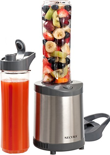 Secura 300W Personal Blender Smoothie Maker with Stainless S...