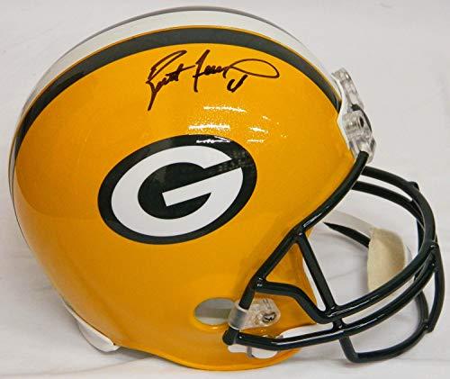 - Brett Favre Autographed Green Bay Packers Riddell Full Size Replica Helmet - Signed Helmets