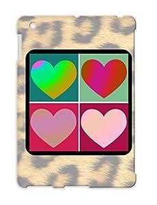 Four Hearts Pink Retro Heart Hearts Blackcat2 Love For Ipad 2 Protective Case