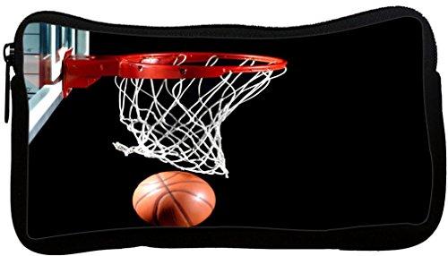 Rikki Knight Basketball in hoop Design Neoprene Pencil Case (pc541) by Rikki Knight