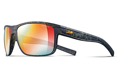 Julbo Renegade Sunglasses, Camo Green/Orange with Zebra Light Lenses