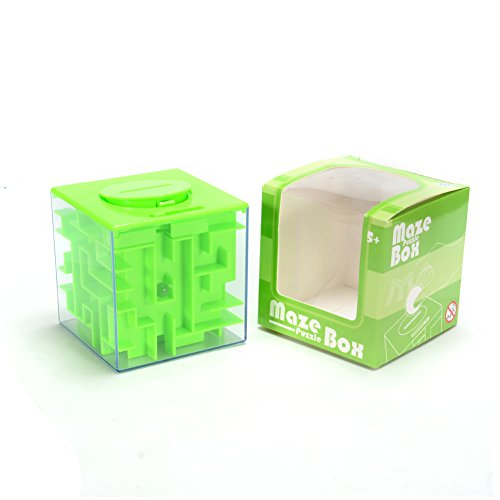Colered Toy Money : Toy gifts money coin cash maze puzzle box saving banks
