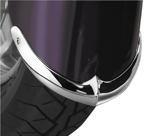 - National Cycle Front Chrome 2-Piece Front Fender Tip for 2004-2010 Kawasaki VN2000/Classic - Chrome - One Size