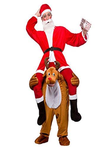 Ride On Riding Shoulder Adult Baby Beer Guy Christmas Halloween Costume Unisex Fancy Dress (Fancy Dress Reindeer)