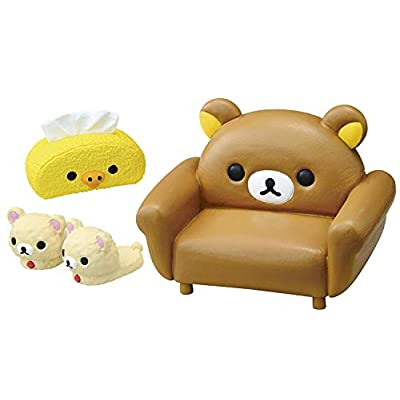Rilakkuma Relax Bear Room Furniture Furnishings Mini Miniature - 1 of 8 Rooms/Themes Blind Box: Toys & Games